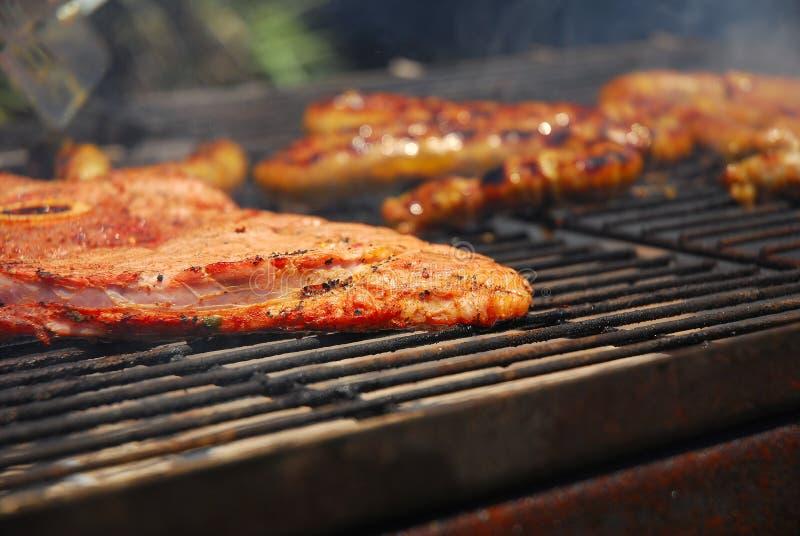 Carne grelhada no sul - braai africano imagem de stock royalty free