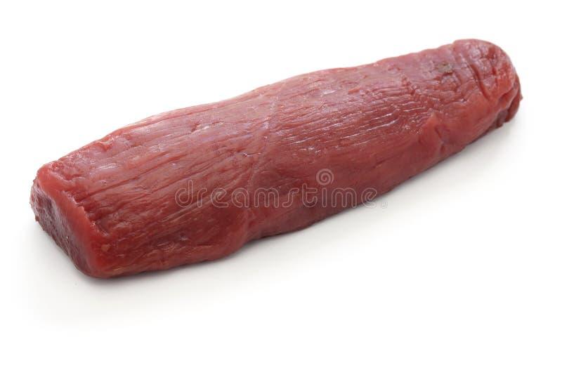 Carne grezza della carne di cervo fotografie stock