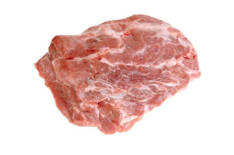 Carne grezza isolata su priorità bassa bianca fotografia stock