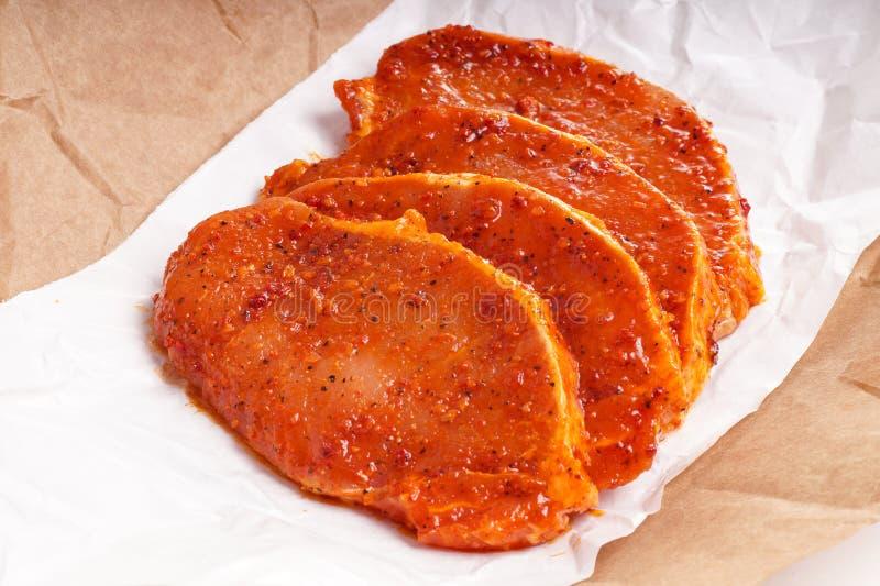 Carne grezza per il barbecue fotografia stock libera da diritti