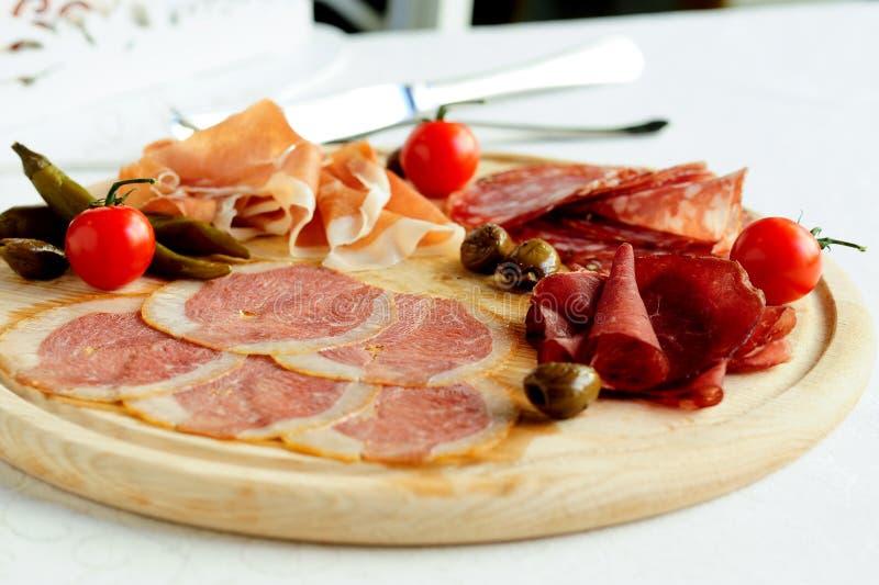 Carne italiana Assorted fotos de stock royalty free