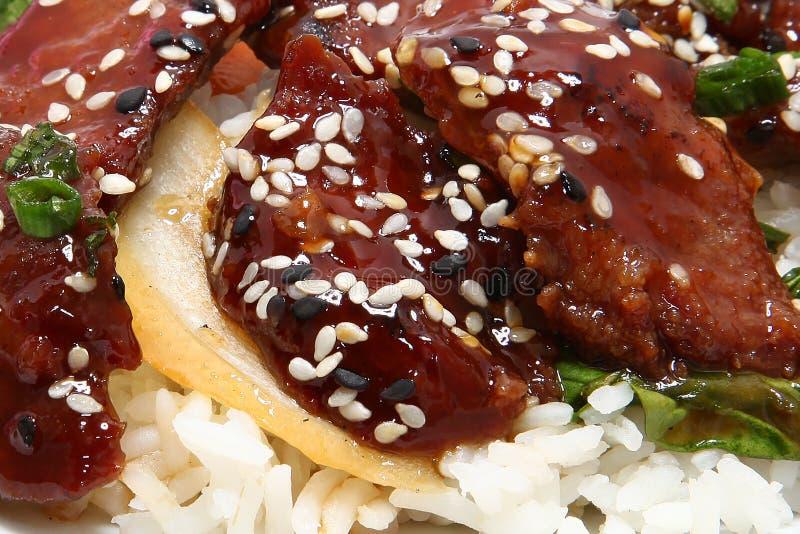 Carne japonesa de Teriyaki imagens de stock royalty free