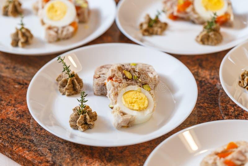 Carne Jellied fotografia de stock