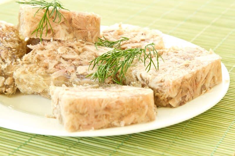 Carne Jellied foto de stock