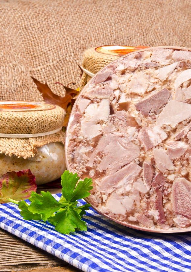 Carne jellied Home-baked fotografia de stock royalty free