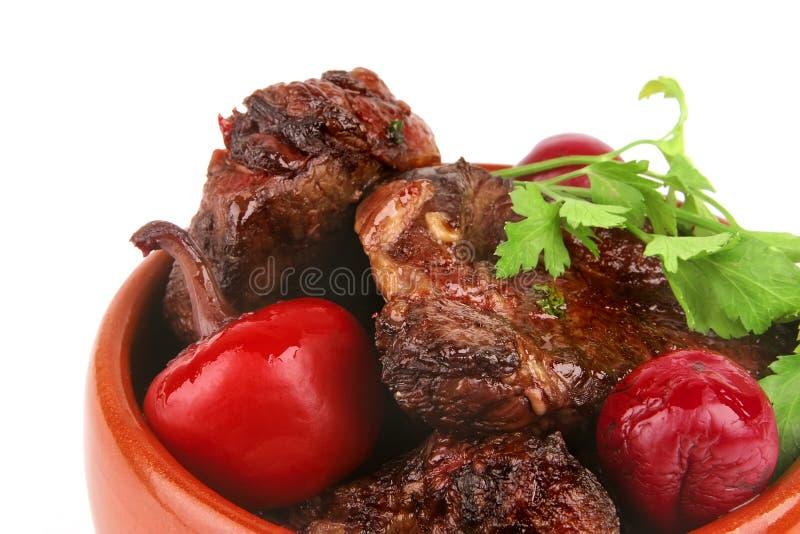 Download Carne no potenciômetro imagem de stock. Imagem de alimento - 10063767