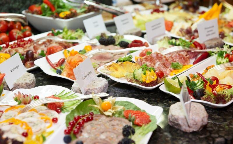 Carne, peixes e uns outros produtos fotografia de stock