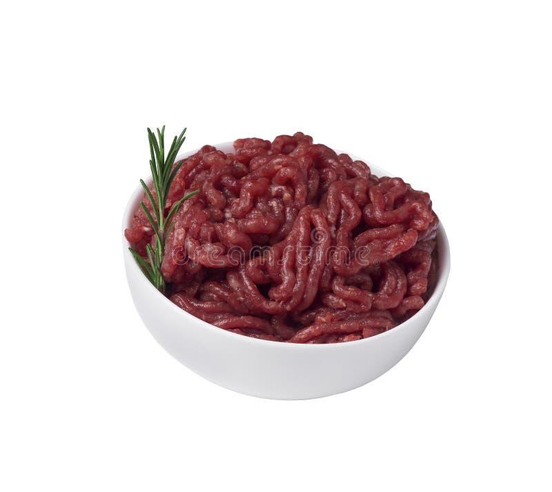 Download Carne Picadita En Un Cuenco, Aislado En Un Fondo Blanco Foto de archivo - Imagen de poultry, hoja: 100527336