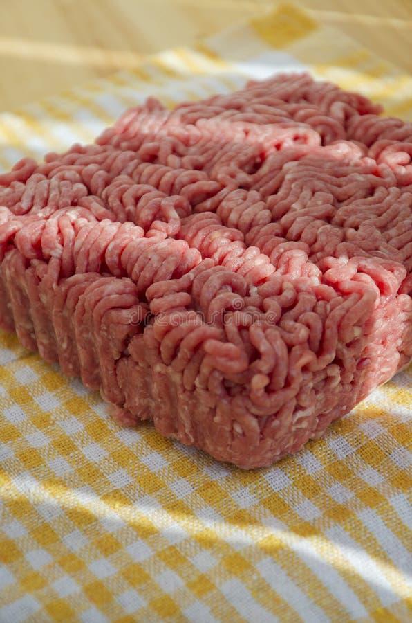 Carne picadita fresca imagenes de archivo