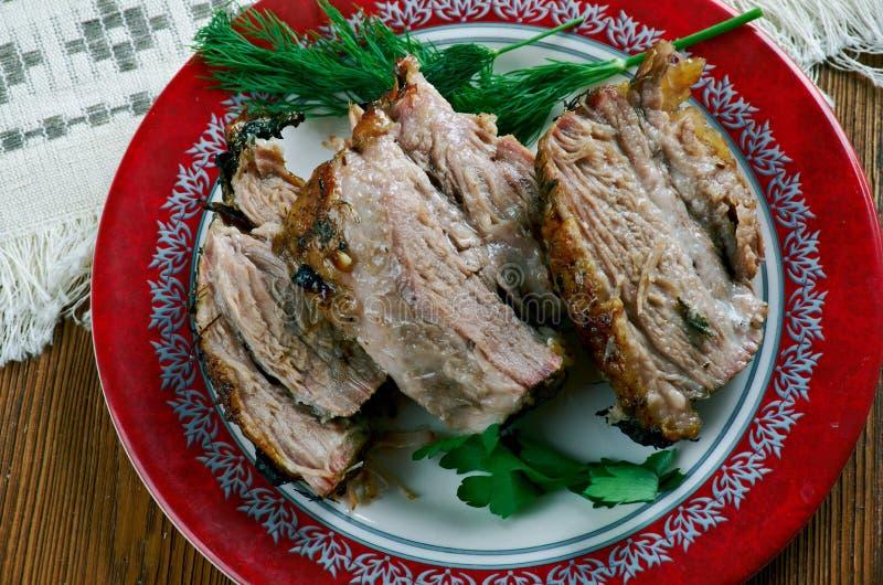 Carne Porco Assado stockfoto