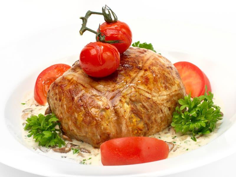 Carne rellena con cuscús imagen de archivo libre de regalías
