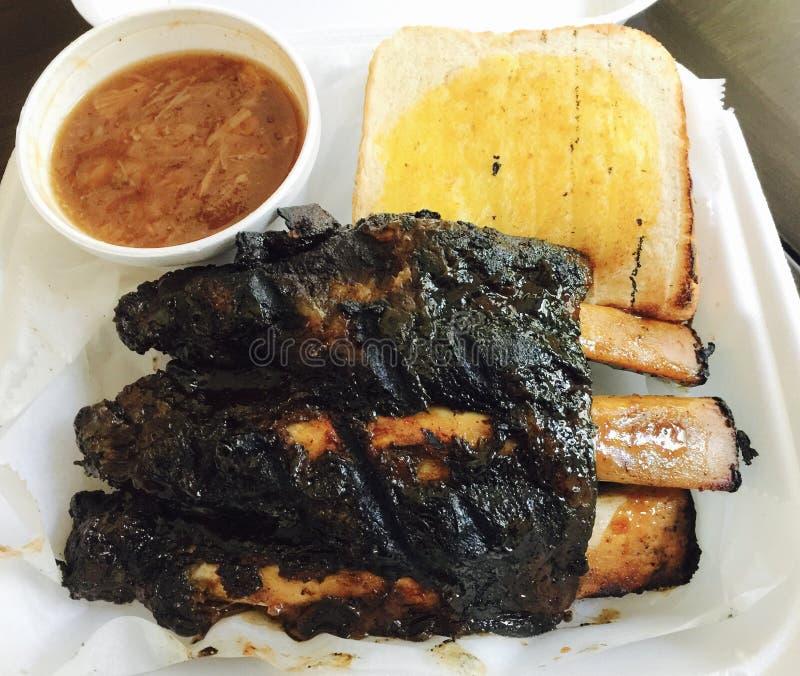 Carne Rib Dinner Memphis Style do BBQ imagens de stock