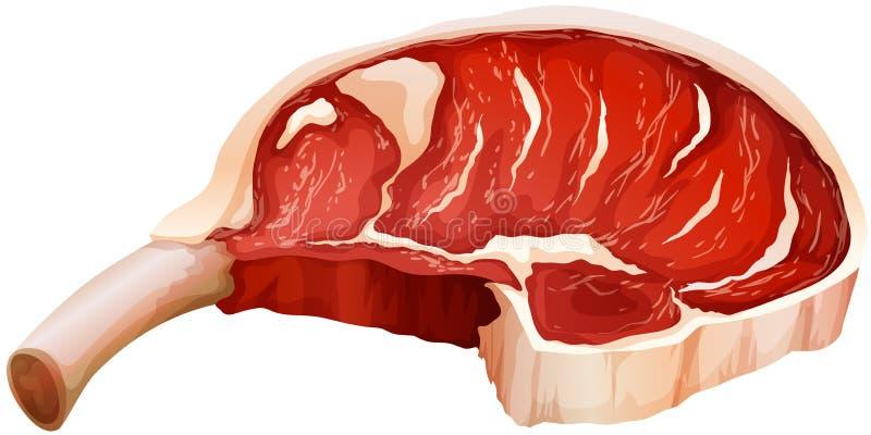 Carne roja ilustración del vector