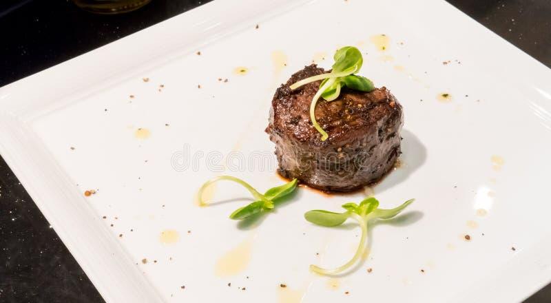 Carne seca australiana grelhada da idade Bife de vaca superior fotografia de stock