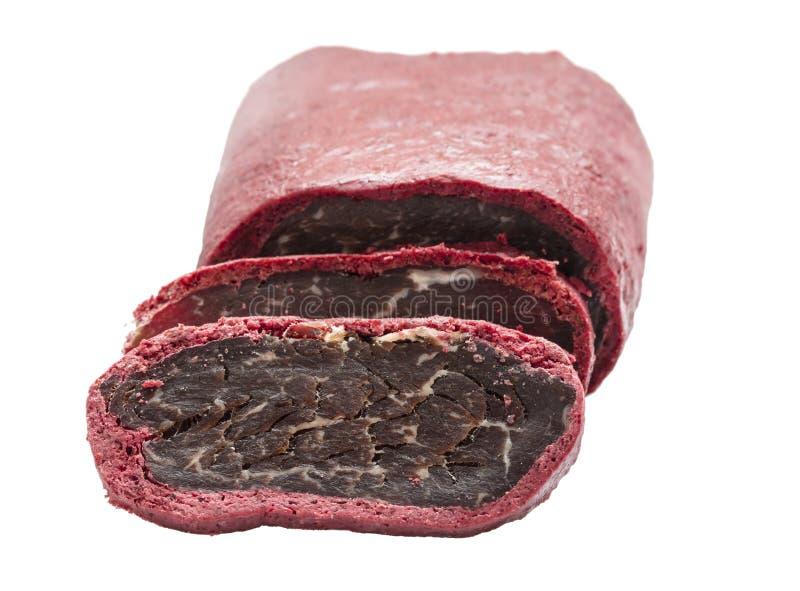 Carne secada en especias imágenes de archivo libres de regalías