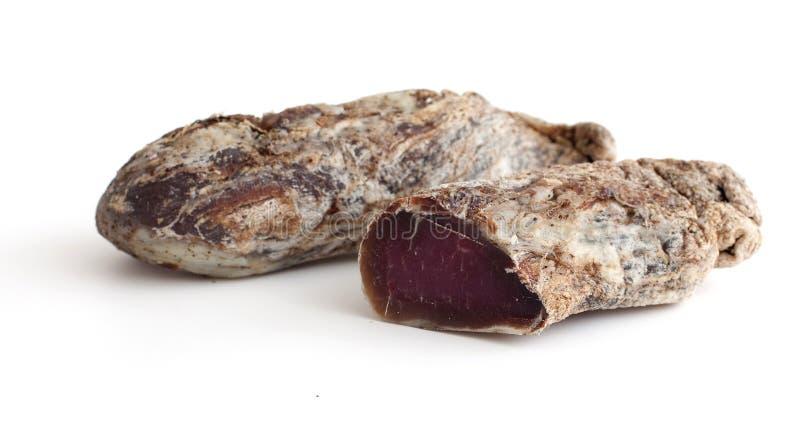 Carne secada y salada del hogar imagen de archivo libre de regalías