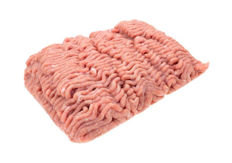 Carne sem gordura fresca Turquia crua da terra no branco imagem de stock royalty free
