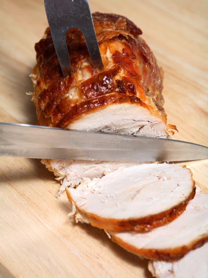 Carne senz'ossa dell'arrosto della Turchia   fotografia stock libera da diritti