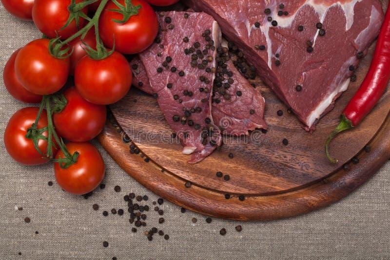 Carne sin procesar fresca imágenes de archivo libres de regalías