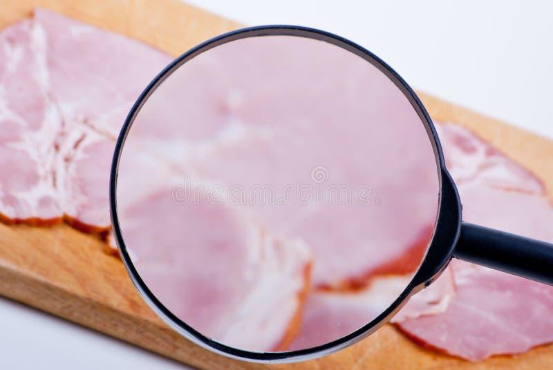 Carne sob a inspeção foto de stock