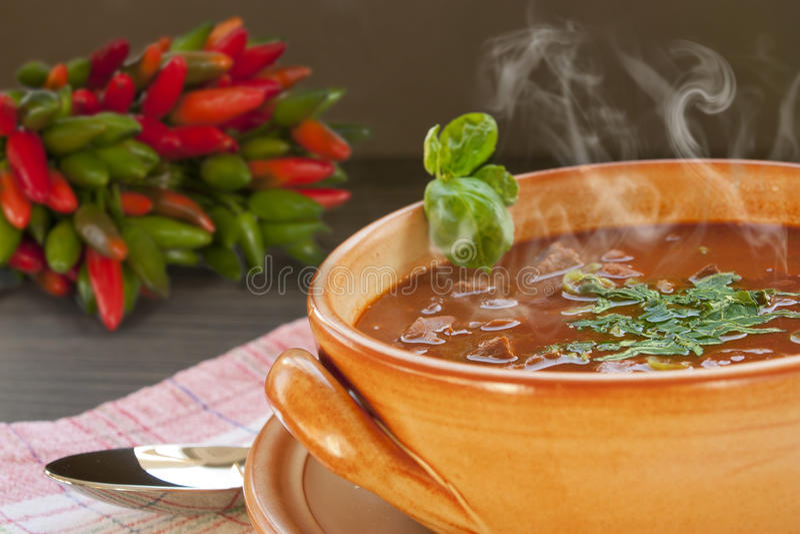 carne stew τσίλι con στοκ φωτογραφία