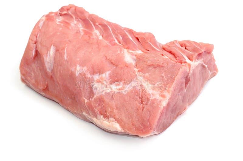 Carne succosa cruda fresca isolata sul contesto bianco immagine stock