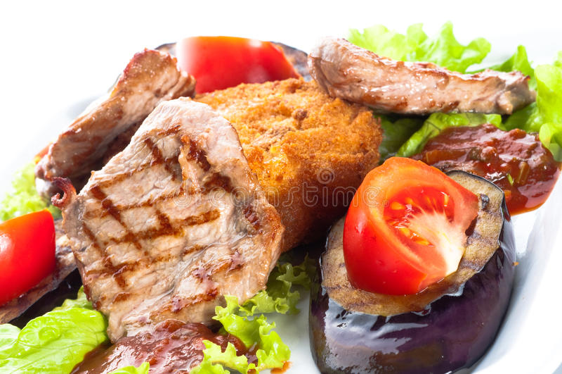 Carne suculenta do sirloin coberta foto de stock royalty free
