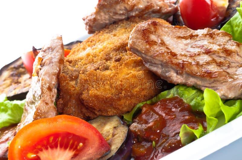 Carne suculenta do sirloin coberta fotos de stock royalty free