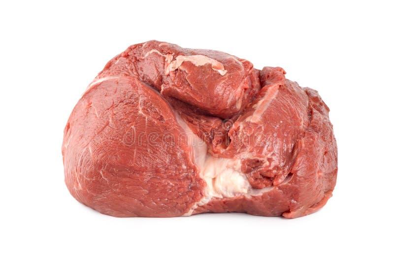 Carne sugosa grezza isolata fotografie stock libere da diritti