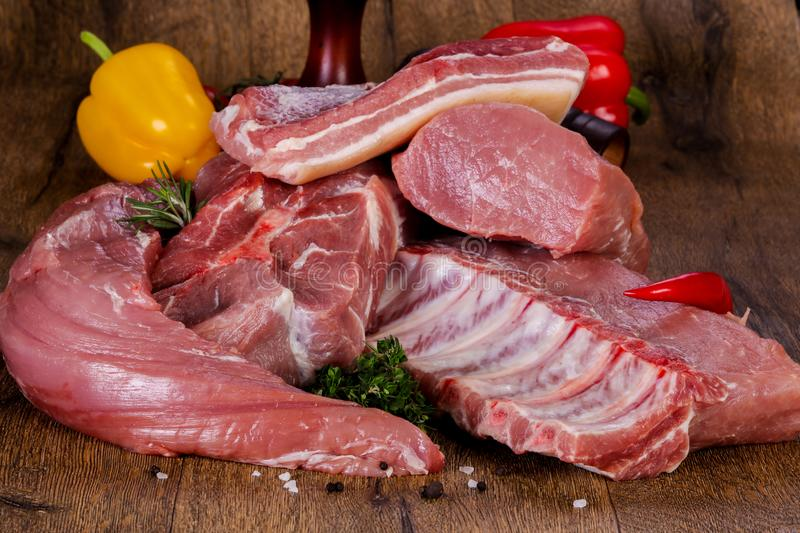 Carne suina grezza immagini stock libere da diritti