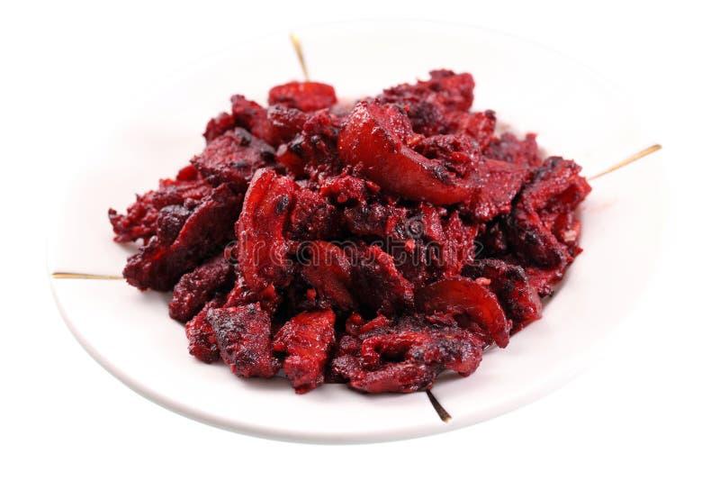 Carne suina rossa della vinaccia immagine stock libera da diritti
