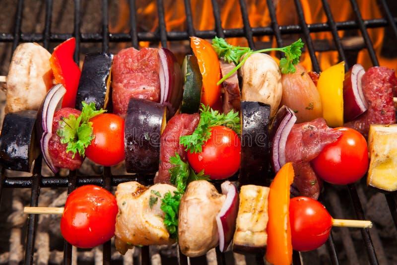 Carne sulla griglia fotografia stock