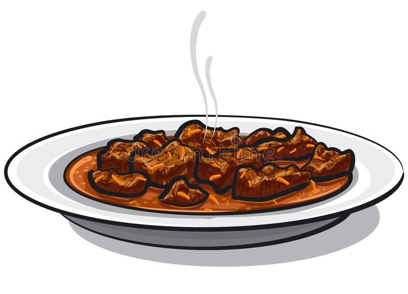 Carne tradicional da goulash ilustração do vetor