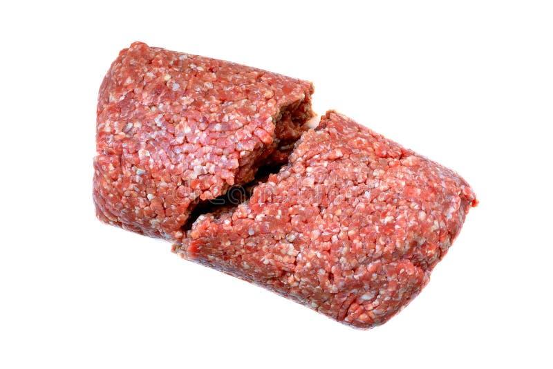Carne tritata cruda per la cottura delle cotolette, hamburger, polpette fotografia stock libera da diritti