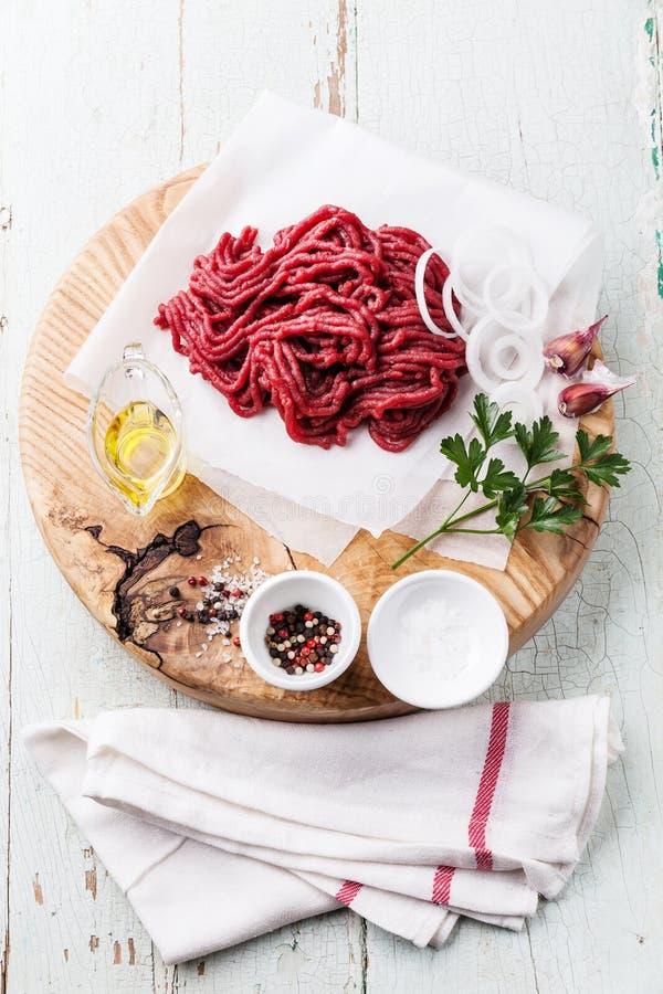 Carne tritata fresca fotografia stock