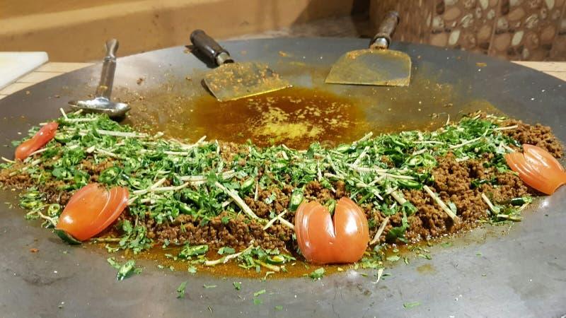 Carne tritata fritta fotografia stock