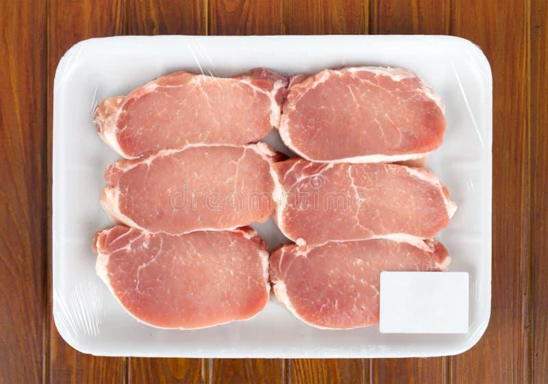 A carne vermelha fresca embalou em um saco poli. imagens de stock royalty free