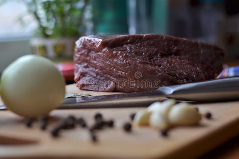Carne y especias fotos de archivo
