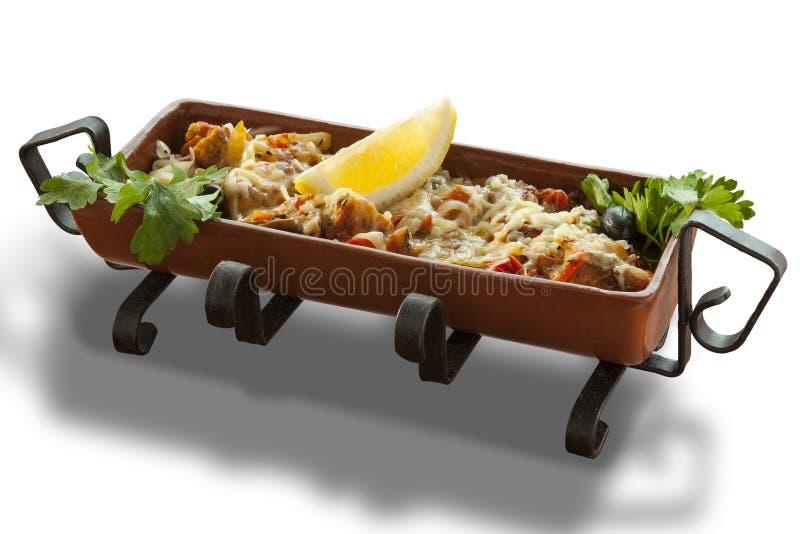 Carne y verduras imagen de archivo libre de regalías