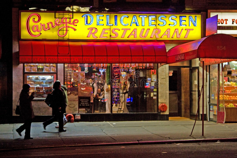 Carnegie Deli royalty free stock images