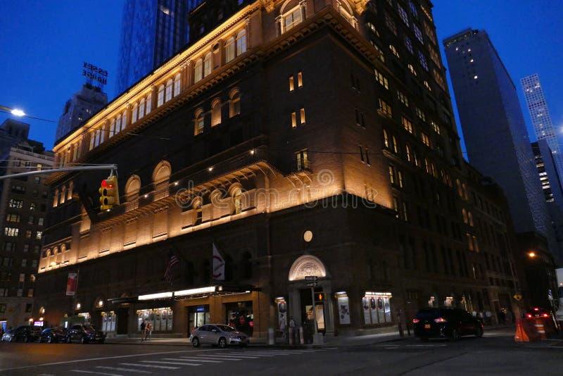 Carnegie Hall, Manhattan, Miasto Nowy Jork zdjęcie stock