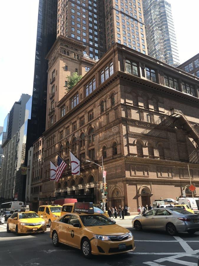 Carnegie Hall Manhattan, NYC arkivbild
