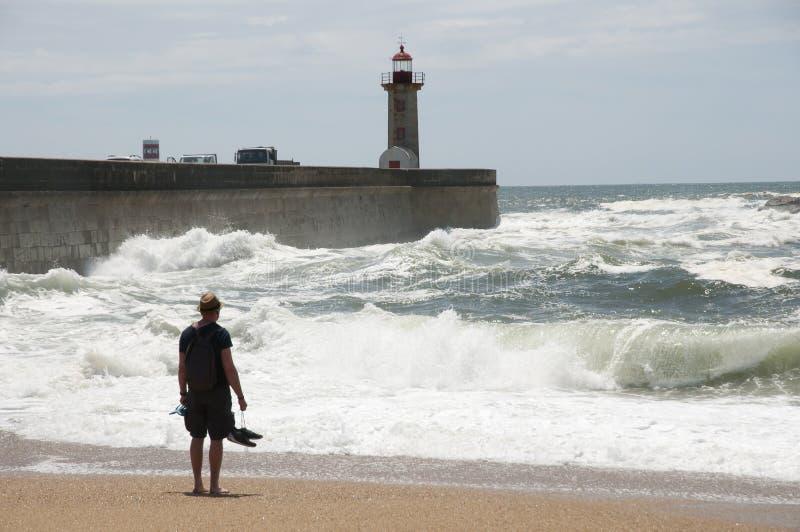 Carneiro-Strand - Porto - Portugal stockfoto