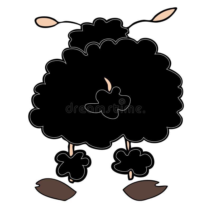 Carneiros pretos engraçados. ilustração royalty free