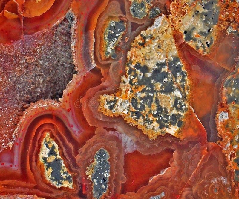 Carnelian и минералы стоковое фото