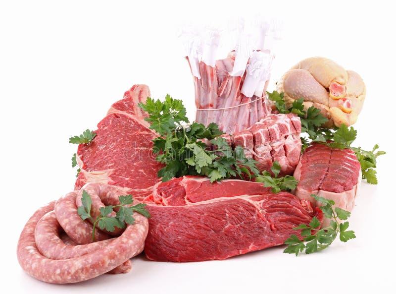 Carnes cruas isoladas imagem de stock royalty free