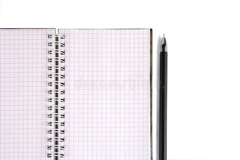 Carnet avec la grande conception de stylo pour tous buts Affaires créatrices Mode de vie, finances d'affaires, concept de technol image stock