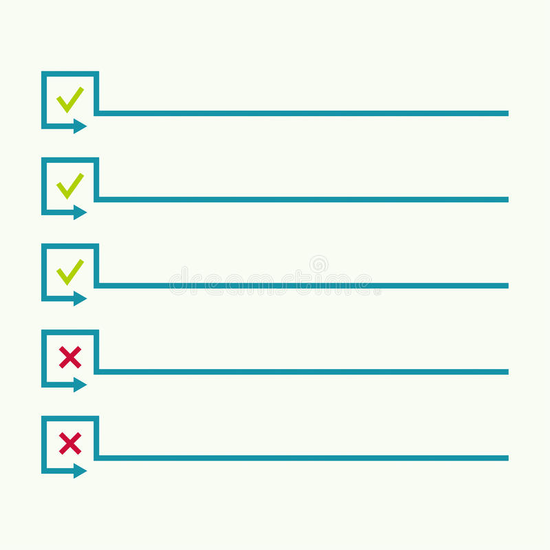 Carnet avec pour faire la liste illustration libre de droits