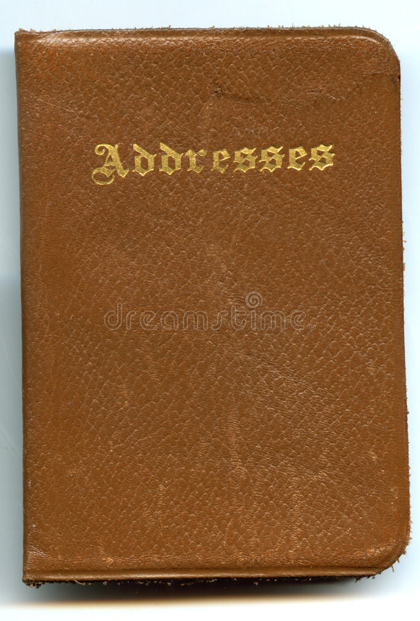 Carnet d'adresses en cuir antique photo libre de droits