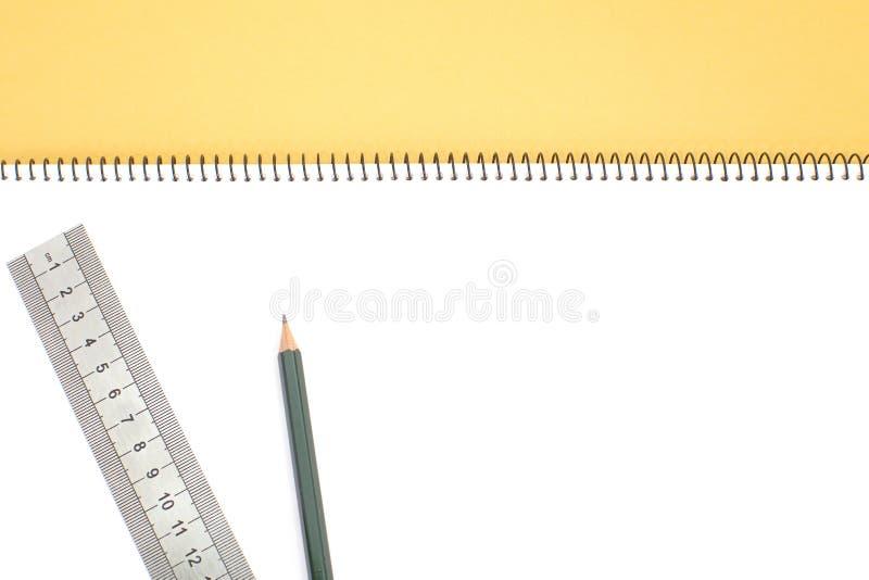 Download Carnet d'isolement photo stock. Image du crayon, ouvert - 87700976